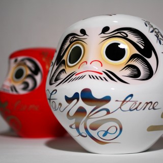 DARUMA -basket case- [ white×titanium ] [ red×gold ]